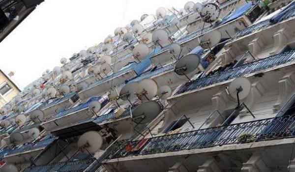 Les paraboles qui ornent les immeubles est une preuve que les Algériens regardent ailleurs.