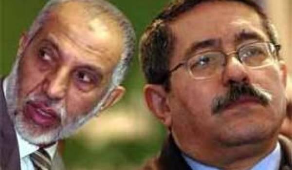Belkhadem et Ouyahia : les deux compères qui soutiennent le pouvoir réel.