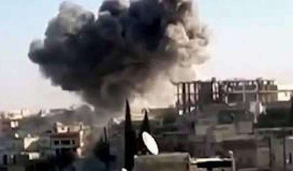 Damas au centre de terribles combats de rues et de bombardements.