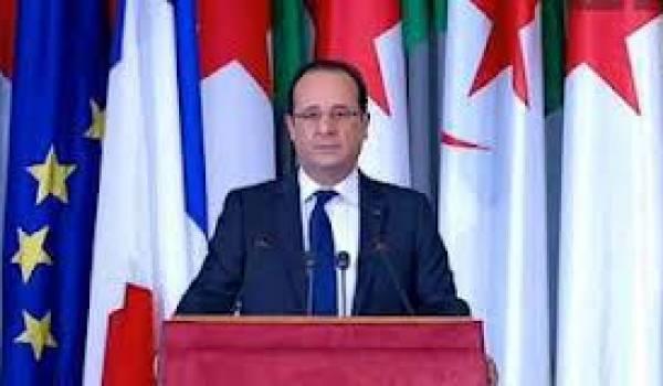 Le président Hollande lors de sa conférence de presse.