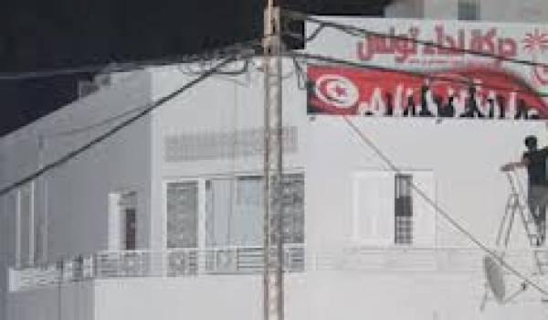 Le siège du parti Nidaa Tounès a failli être incendié.