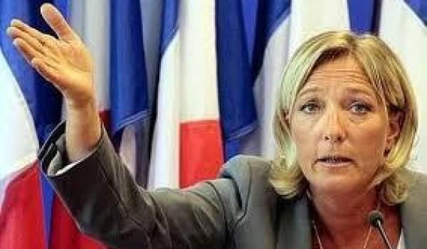Marine Le Pen se découvre des talents d'avocate des potentats arabes.