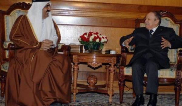 L'émir Hamad ben Khalifa al-Thani et Abdelaziz Bouteflika