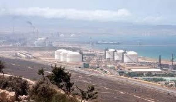 La zone industrielle d'Arzew.
