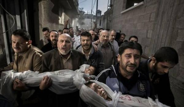 Ce cliché de Paul Hansan a été réalisé dans les rues de Gaza après un bombardement israélien le 20 novembre 2012