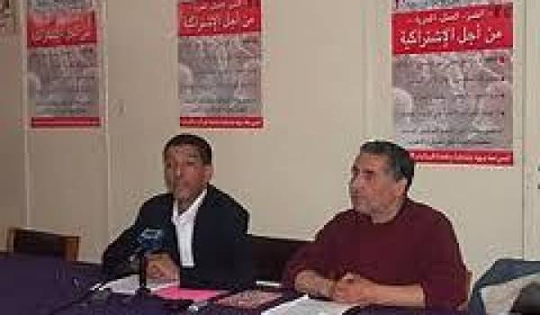 Sadek Akrour, à droite sur la photo, arrêté hier à Bejaïa