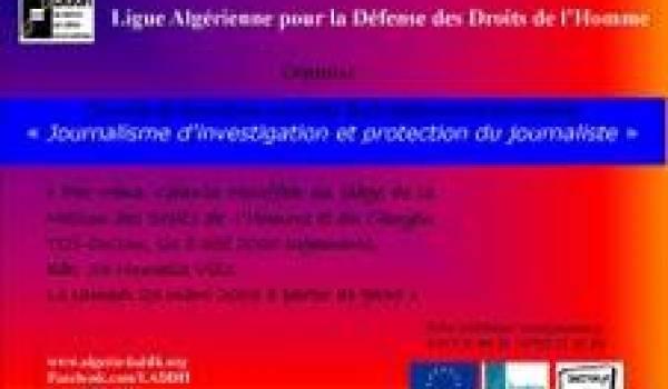 MDHC Tizi-Ouzou : formation au journalisme d'investigation et protection du journaliste
