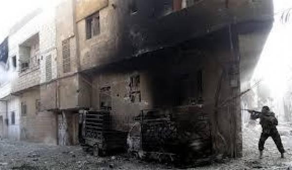 De violents combats ont éclaté dans le quartier de Barzé dans le nord de Damas.