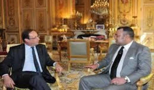 Hollande et le roi Mohammed VI.