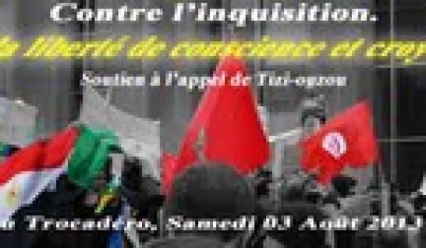 Soutien à l'appel de Tizi-Ouzou contre l'inquisition