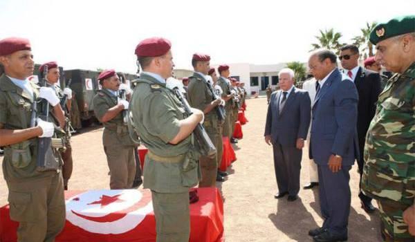 Cérémonie à la mémoire des soldats tués.