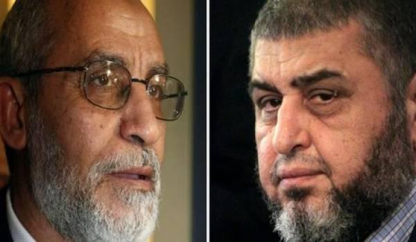 Les leaders islamistes Mohamed Baie et Khairat Al Chater.