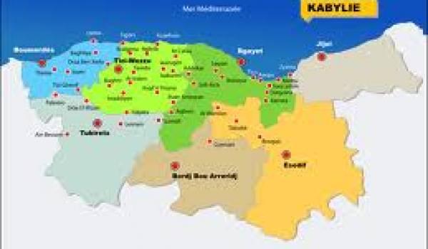 Carte de la KAbylie.