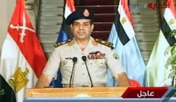 Le général Sissi lors de son intervention