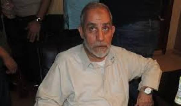 Mohamed Badie lors de son arrestation