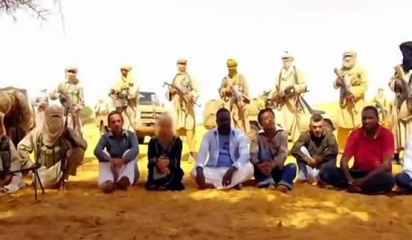 Les otages de l'organisation Aqmi.