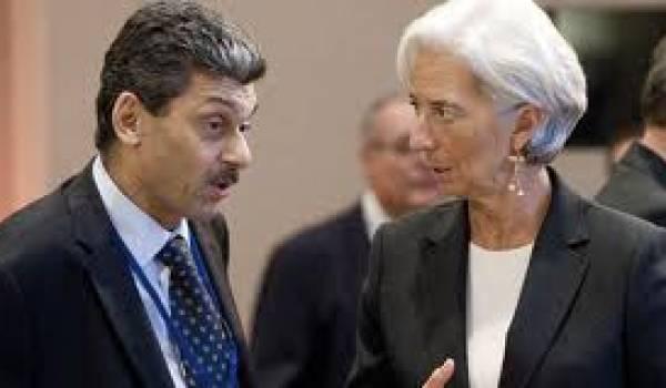 Karim Djoudi et Christine Lagarde, directrice du FMI.