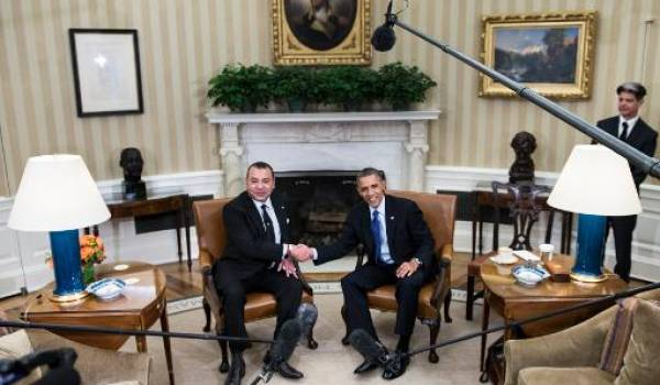 Barack Obama et Mohamed VI.