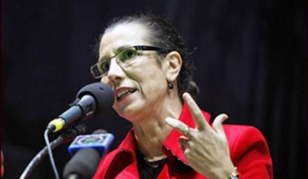 Louisa Hanoune, présidente du PT depuis 1990.