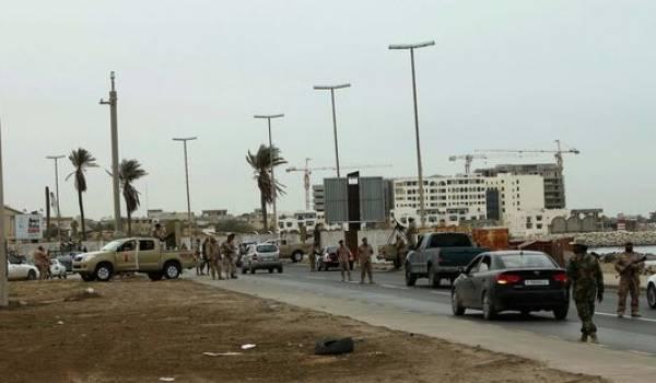 Point de contrôle à Tripoli.