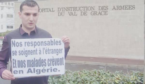 Un Algérien qui dénonce les onéreux soins des dirigeants algériens dans les hôpitaux étrangers.