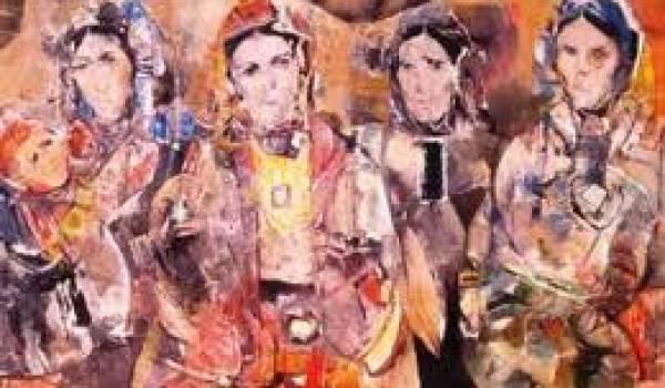 """""""Chaouiates"""", une oeuvre de M'hamed Issiakhem."""