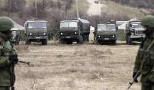 La montée des forces russes en Crimée.