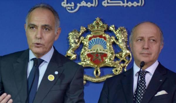 Salaheddine Mezouar et Laurent Fabius, les ministres des Affaires étrangères marocain et français.