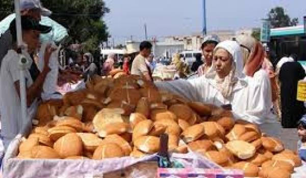 """Une """"grève du pain"""" de 48 heures a débuté mercredi au Maroc"""