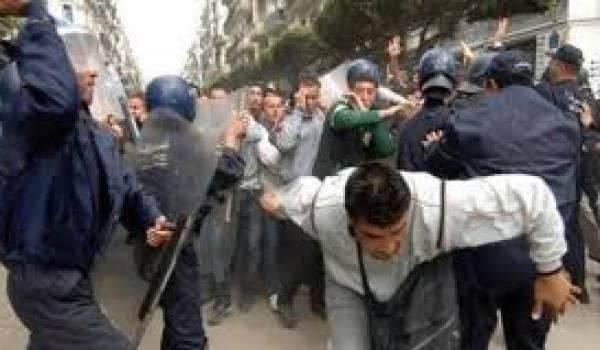 Les grévistes ont été violemment tabassés par la police. Photo Archive