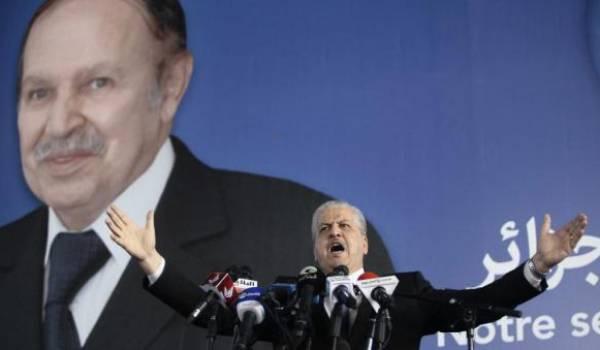 Sellal faisant campagne pour un candidat malade et absent de la scène politique.