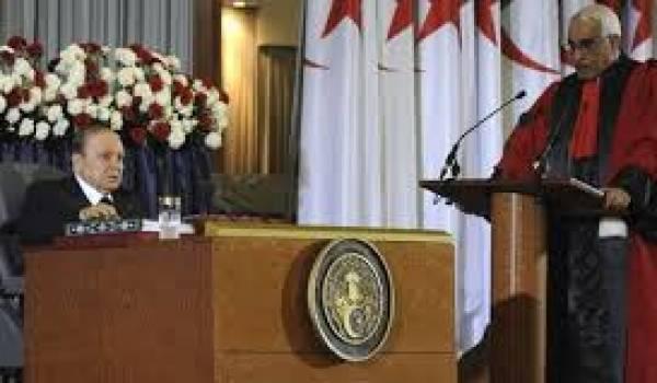 Bouteflika a prononcé un micro discours de 93 mots