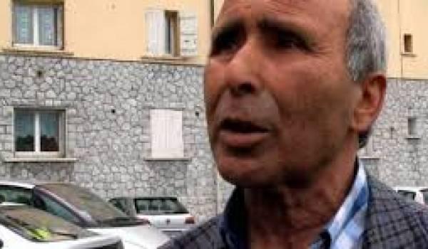 Ferhat Bouhabila, le père de l'homme soupçonné de djihadisme et expulsé en Algérie.