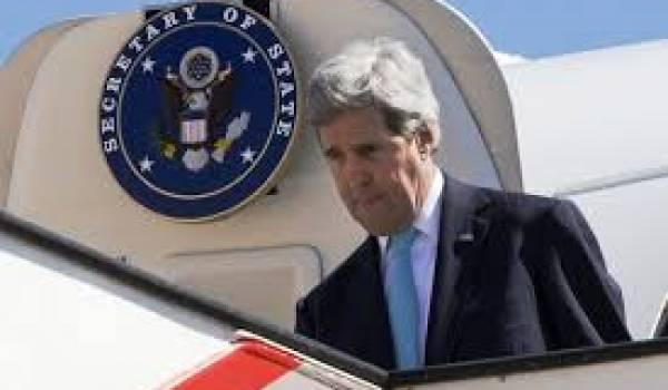 Le secrétaire d'Etat américain John Kerry en visite en Algérie
