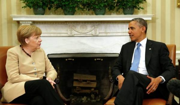 Angela Merkel et Barak Obama.