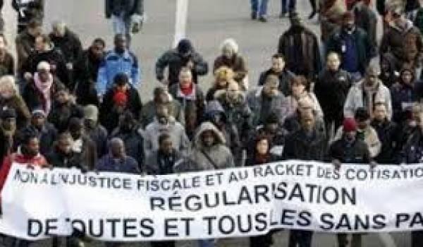 De nombreuses marches ont été organisées pour la régularisation des sans papiers.
