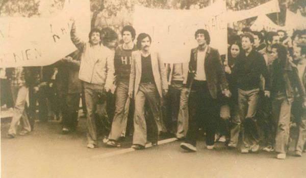 L'un des premières marches du MCB à Alger.