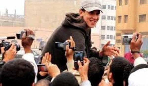 Le rappeur du 20-Février, Mouad Belghawat,