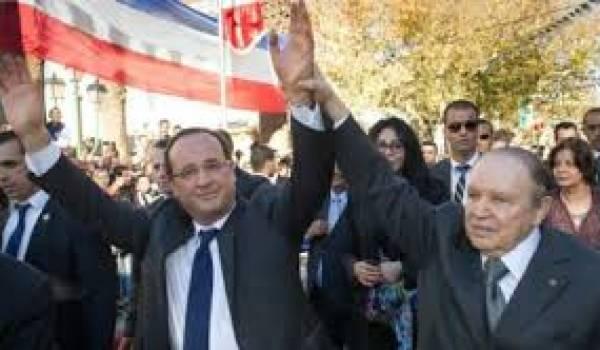 Bouteflika et Hollande.