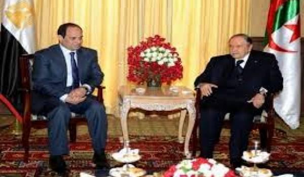 Bouteflika reçoit le putschiste Abdelfattah Al Sissi