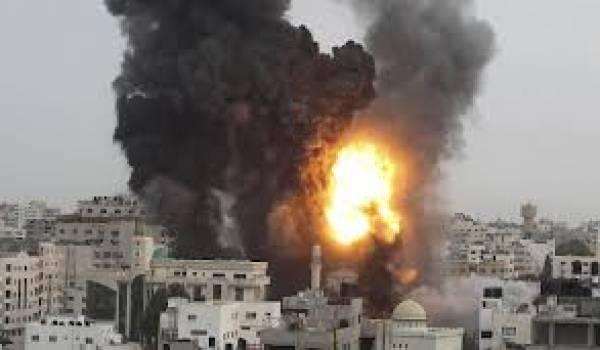 Plusieurs civils palestiniens sont morts à l'issue des bombardements.