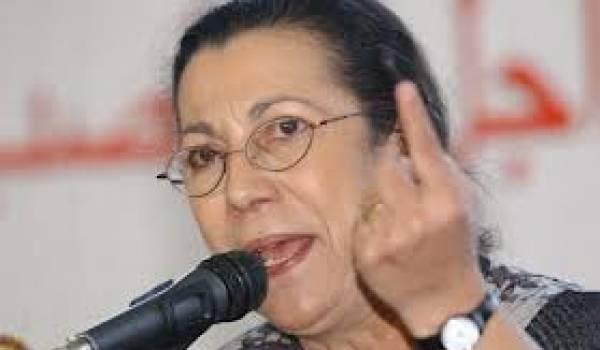 Louisa Hanoune, patronne du Parti des travailleurs, soutien inconditionnel de Bouteflika.