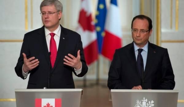 Stephen Harper et François Hollande