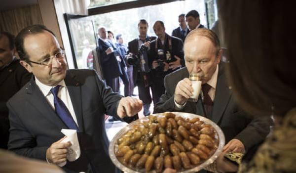 François Hollande a été l'un des premiers à féliciter Bouteflika pour son 4e mandat.