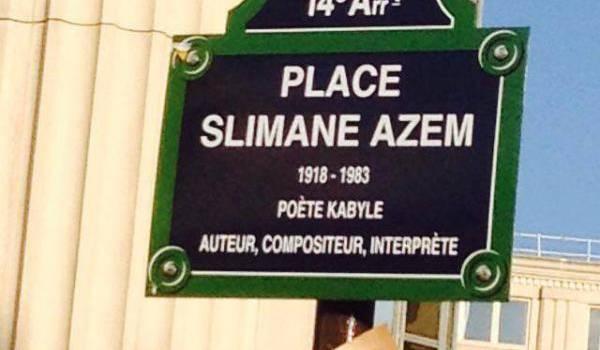 Slimane Azem a désormais sa place dans la capitale française.