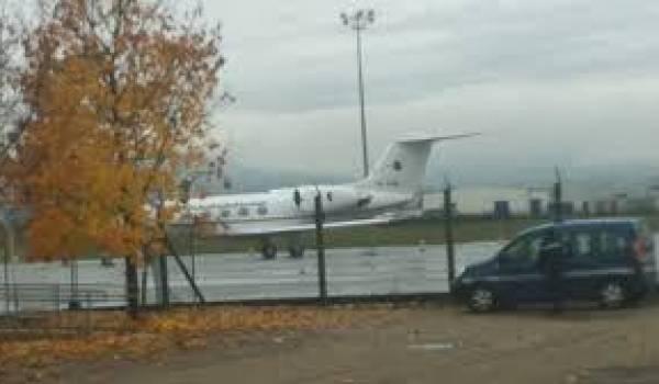 L'avion qui aurait ramené le président en Algérie cet après midi de l'aéroport de Grenoble.