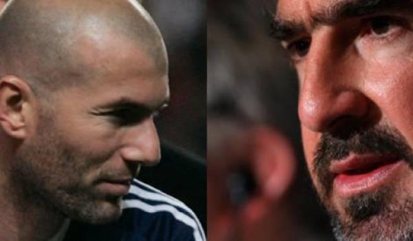 Zineddine Zidane et Eric Cantona.