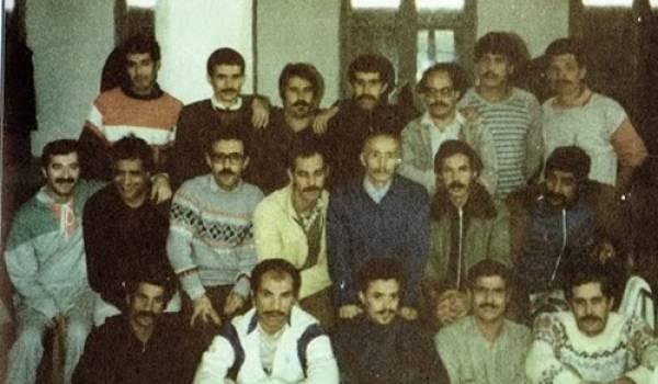 Des détenus du Mouvement culturel berbère au lendemain du printemps berbère de 1980.