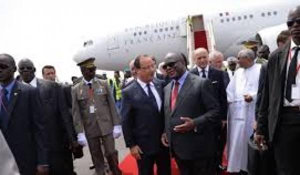 François Hollande sur les terres africains.