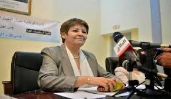 Nouria Benghebrit, ministre de l'Education nationale.